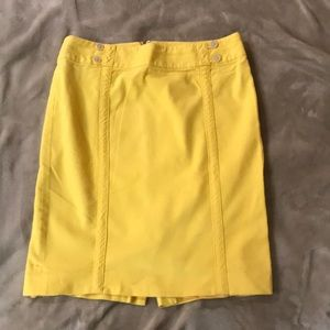 Ann Taylor Loft Yellow Pencil Skirrt